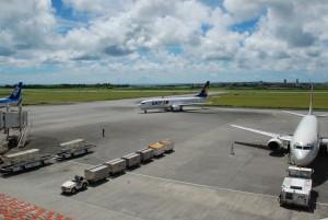 上半期の乗降客数が大幅に増加した宮古空港