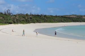 多くの観光客の来訪が予想される渡口の浜